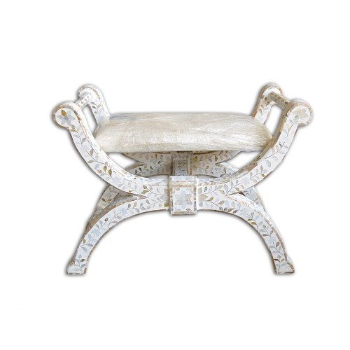 White MOP Inlay Jenny Chair Floral