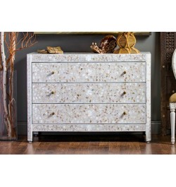 Grey Mother of pearl inlay dresser