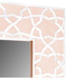 Fez Mother Of Pearl Inlay Mirror - Pale Pink