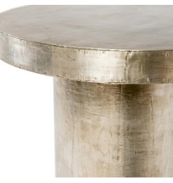 German Silver Metal Side Tables and end tables furniture