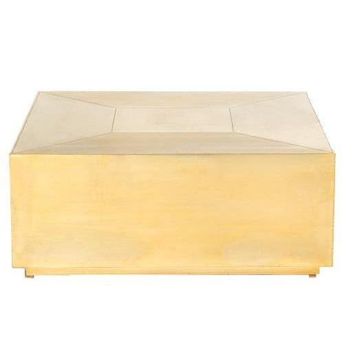 Brass Square Coffee Table