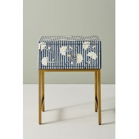 Ada Bone Inlay Nightstand Blue
