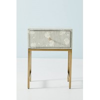 Ada Bone Inlay Nightstand Grey