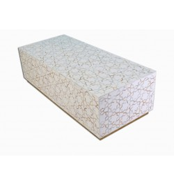 Mother Of Pearl Inlay Star Rectangle Center Table White