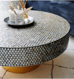 Buy Targua Mother of Pearl Coffee Table Black