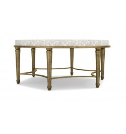 round mother of pearl coffee table