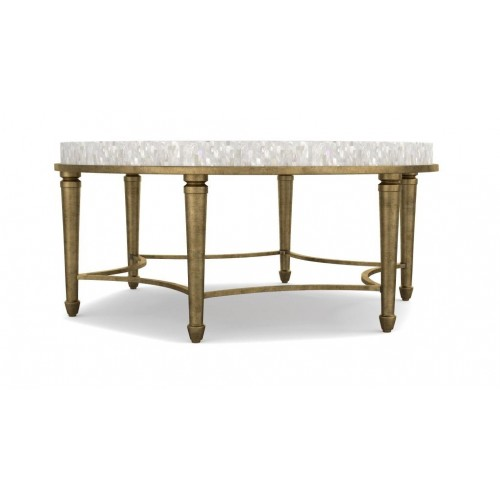 White MOP Shell Inlay Coffee Table