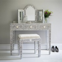Mother of Pearl Inlay Vanity Combo in Grey