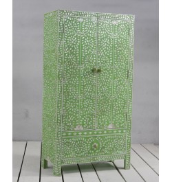 MOP Inlay Floral Armoire Green