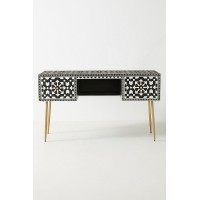 Moroccan Inlay Desk Black