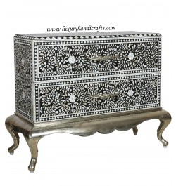 Mother Of Pearl Inlay Chest Metal Legs
