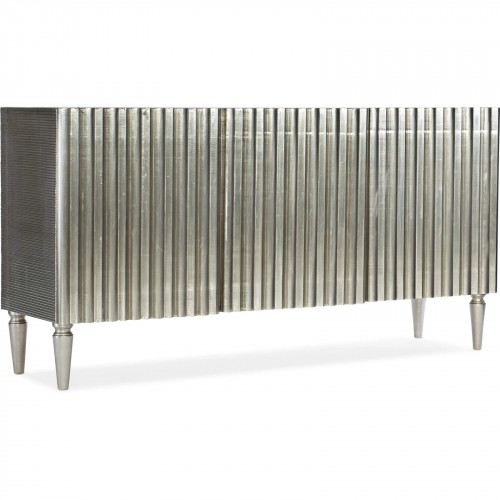 Luxury Home Entertainment German Silver Console 3 Cupboards