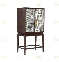 Bone Inlay modern home bar cabinet