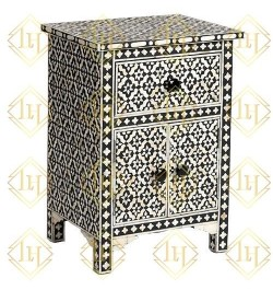 Wooden Bone Inlay bedside tables or Headboards