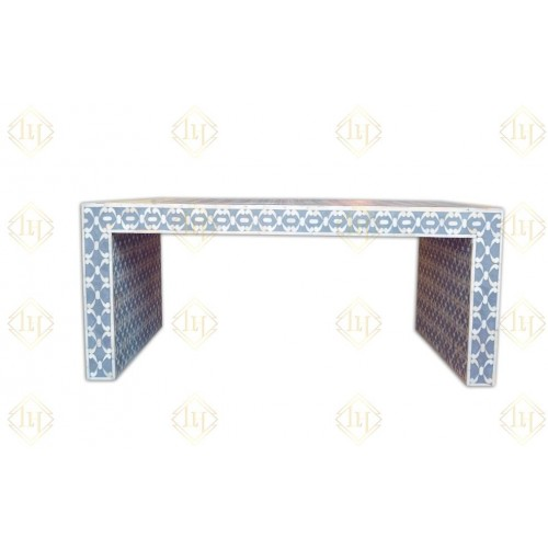 Bone Inlay Quote Center Table Grey