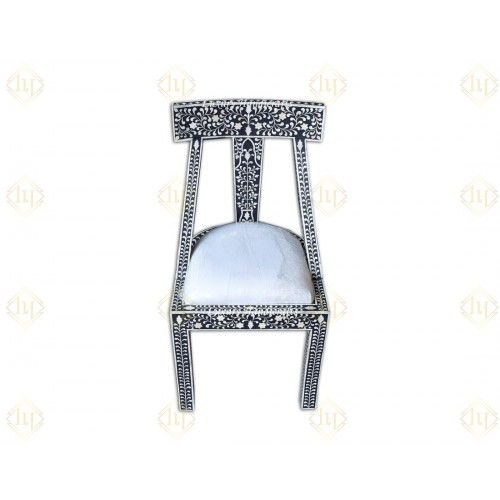 Bone Inlay Moroccan Chair Black