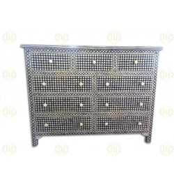 black chest of drawers  bone inlay furniture