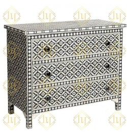 Wooden white bone inlay dresser