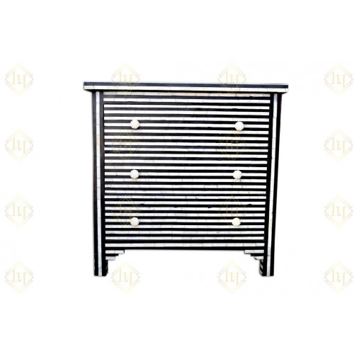 Bone Inlay Stripe 3 Drawer Chest