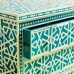 Green Bone Inlay Chest Of 3 Drawer Star Geometrical Design