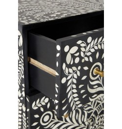 Lucienne Three Drawers Dresser Table in Black Color