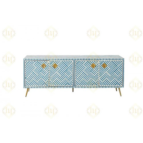 Optical Bone Inlay Media Console Sky Blue