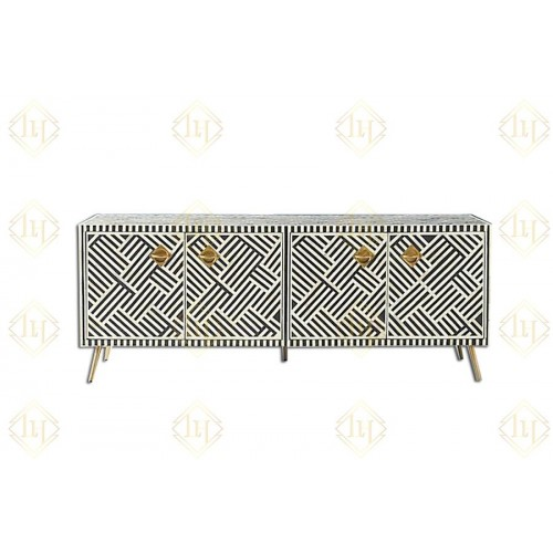 Optical Bone Inlay Media Console Black