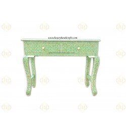 buy waterfall inlay console table