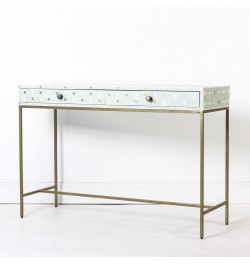 Bone Inlay Console Sprout Design in Slate Blue