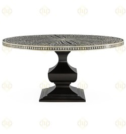 Bone Inlay big round dining table