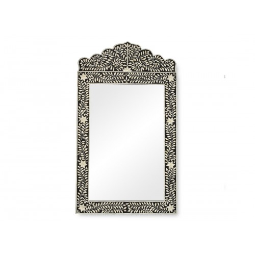 Bone Inlay Crested Mirror Black