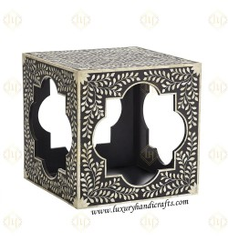 wooden Inlay Side End Table Furniture