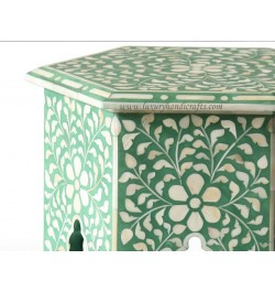 Buy Bone Inlay Side End Table Online  in USA