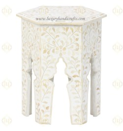 Buy Inlay Side End Table Furniture Online in USA