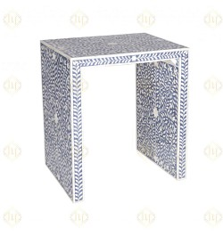 Bone Inlay Side End Table