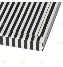 Black Bone Inlay Stripe Tray