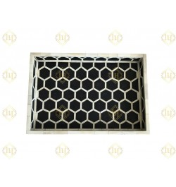 Honeycomb Pattern Bone Inlay Tray