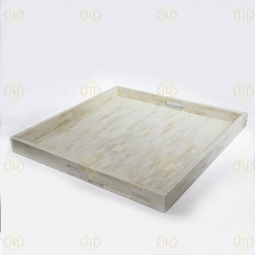 Full Ivory Bone Inlay Tray Square