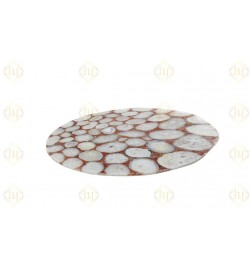 White Agate Table Top Red Crystal