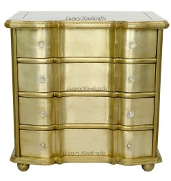 German Silver Metal Chest Of Drawers
