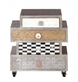 Online German Silver Metal Chest Of Drawers furniture In USA