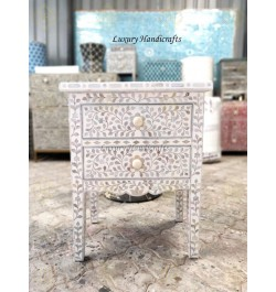 mother of pearl nightstand