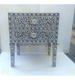 mother of pearl inlay nightstand