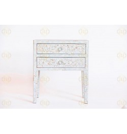 buy online mother of pearl bedside table