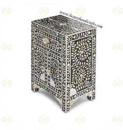 Buy mother of pearl inlay bedside table in USA
