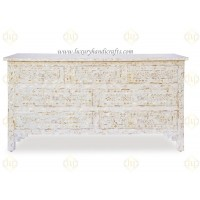 White Mother Of Pearl Inlay Chest Of 7 Drawers Large (Mr. Carl)