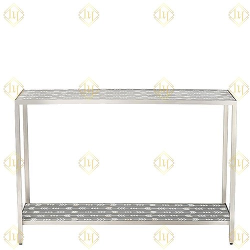 Mother Of Pearl Inlay Arrow Console Grey