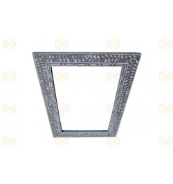 Grey Mother Of Pearl Inlay Leaf Mirror