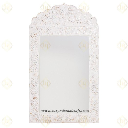 Mother Of Pearl Inlay Crested Mirror Combo