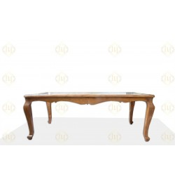 Wooden small round dining table for 4